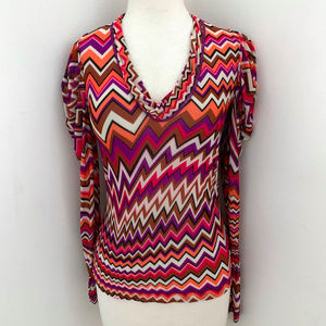 MISSONI by WOLFORD Jersey geometric print top